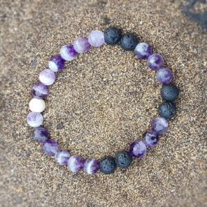 Amethyst essential oil mood enhancing bracelet
