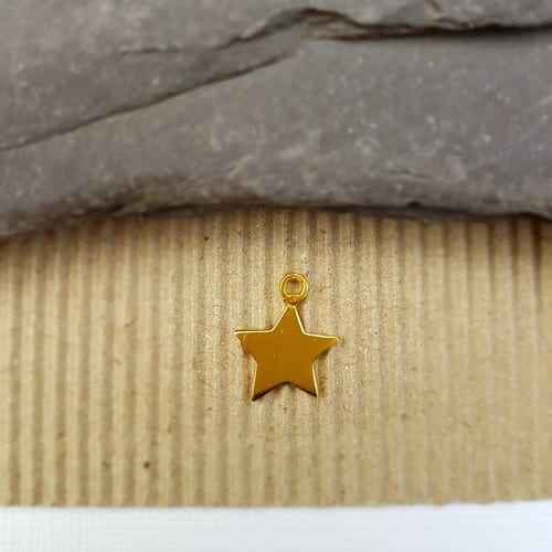yellow gold plated star charm