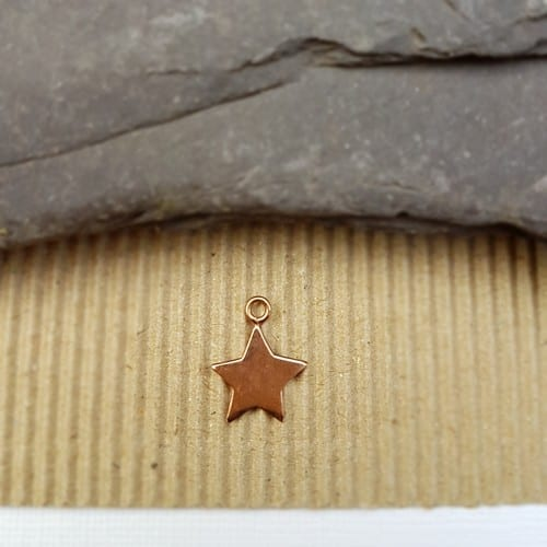 rose gold plated star charm