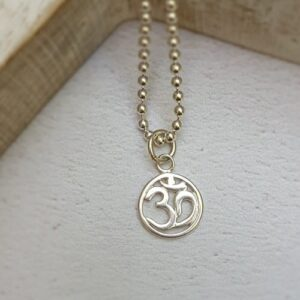 sterling silver om charm