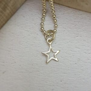 sterling silver open star charm