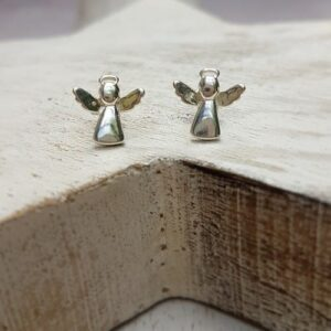 sterling silver angel stud earrings