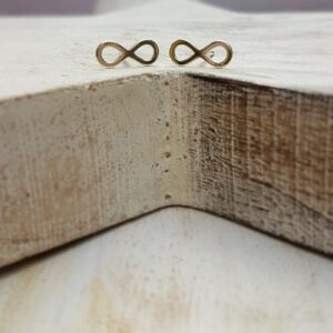 sterling silver infinity symbol stud earrings